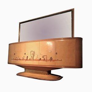 Italienisches Art Deco Sideboard mit Spiegel von Galleria Mobili d'Arte Cantù, 1950er