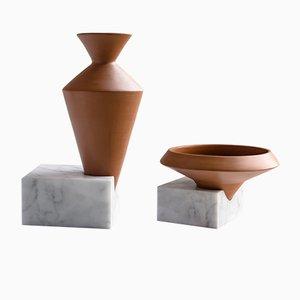 Trascorso Vasen von gumdesign für La Casa di Pietra, 2er Set