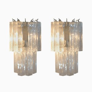 Italian Murano Glass Wall Sconces, 1960s, Set of 2