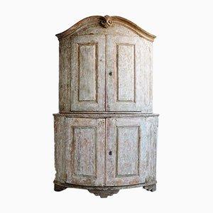 Swedish Rococo Corner Cabinet, 1760s