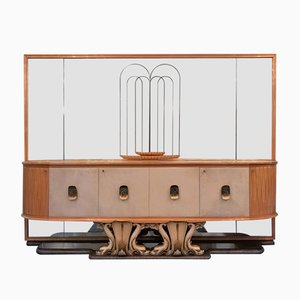 Mid-Century Italian Parchment Sideboard, 1940s