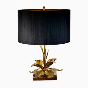 Vintage Table Lamp with Foliage from Maison Charles