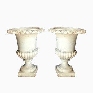 Vasi Medici vintage in ferro, set di 2