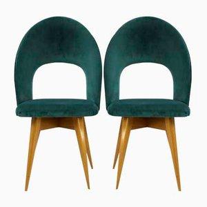 Italienische vintage Beistellstühle, 2er Set