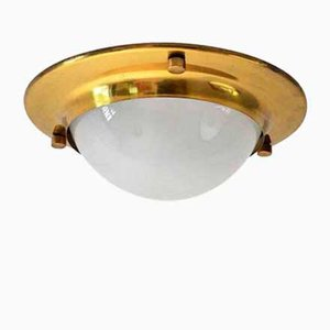 Model LSP6 Brass Flush Ceiling Lamp by Luigi Caccia Dominioni for Azucena, 1960s