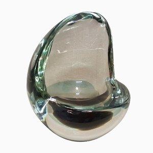Vaso centrotavola in vetro sommerso di Flavio Poli per Seguso, anni '40