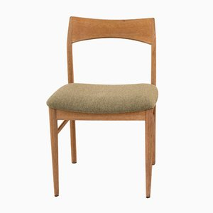 Dining Chair in Oak and Light Green Wool by Henning Kjærnulf for Vejle Mobelfabrik