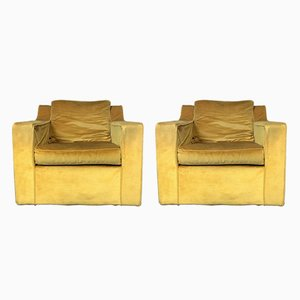 Mid-Century Velvet Lounge Chairs from G-Plan, 1970s, Set of 2