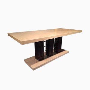 Mesa de comedor italiana Art Déco de pergamino, años 40