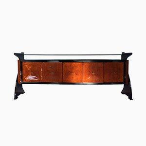 Mid-Century Amboyna & Palisander Sideboard