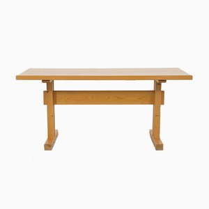 Mid-Century Les Arcs Pine Dining Table by Charlotte Perriand