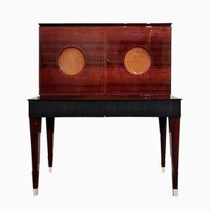 Mueble bar italiano Mid-Century de palisandro, años 50