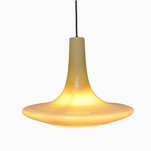 Lámpara colgante grande de vidrio de Peill & Putzler, 1972