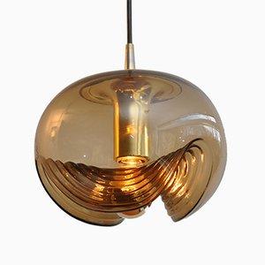 Lampe à Suspension Wave de Peill & Putzler, 1972