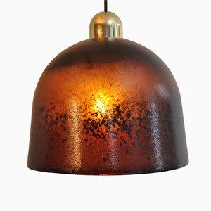 Lámpara colgante de vidrio multicolor de Peill & Putzler, 1972