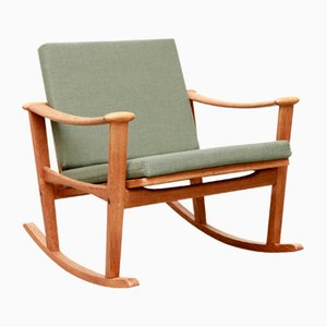 Oak Rocking Chair by M. Nissen for Pastoe, 1960s