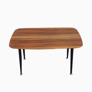 Tavolino da caffè in palissandro con gambe ebanizzate, anni '50