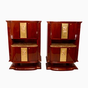 Art Deco Cabinets, 1930s, Set of 2