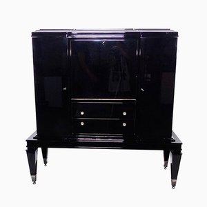 Mueble bar Art Déco en negro, años 30