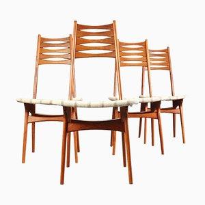 Dänische Teak Esszimmerstühle von Niels Møller für Bolting Stolefabrik, 1960er, 4er Set