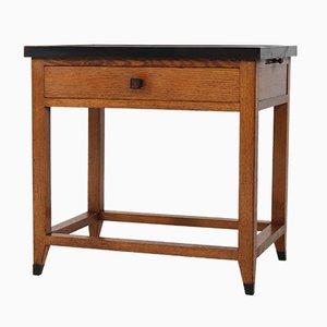 Tavolino Art Déco in quercia di Henk Wouda per Pander, Paesi Bassi, anni '30
