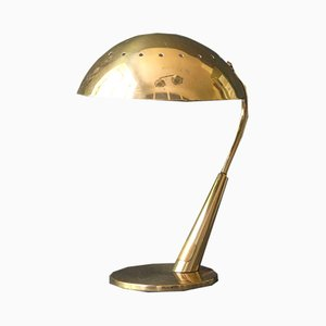 Lámpara de mesa de latón de Kaiser Idell, años 50