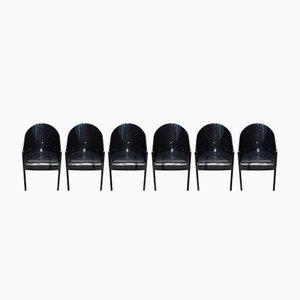 Chaises Coste Noires par Phillipe Starck pour Driade, Italie, 1980s, set de 6