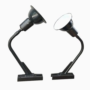 Lampade in metallo smaltato, Francia, anni '40, set di 2