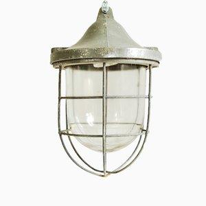 Lámpara colgante industrial de RSWO Elektryka Sopot, años 70