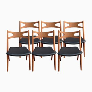 CH29 Teak Sawbuck Chairs by Hans J. Wegner for Carl Hansen & Søn, 1959, Set of 6