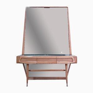 Cassettiera con specchio Mid-Century in legno di acero, Italia, anni '50