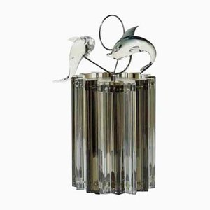 Murano Glass Trilobi Table Lamp from Venini, 1960s