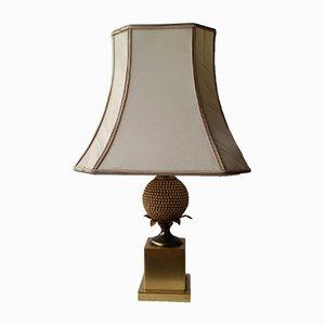 Lámpara de mesa piña vintage de Maison Jansen para Maison Charles