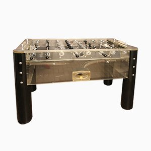 Vintage Lucite and Polished Aluminum Foosball Table, 1970s