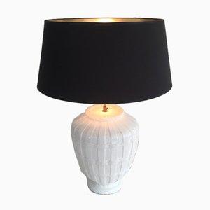 White en Céramique Lampe de Bureau, 1970s