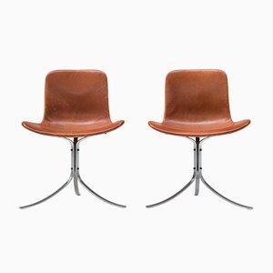 Vintage PK9 Chairs par Poul Kjaerholm pour E. Kold Christensen, Set de 2