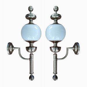 Italian Wall Lamps, 1970s, Set of 2