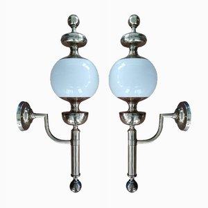 Italian Wall Lamps, 1970s, Set of 2