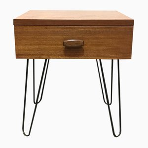 Mid-Century Quadrille Bedside Table on Hairpin Legs from G-Plan