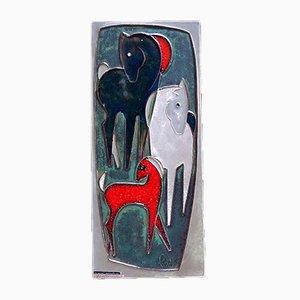 Decorazione da parete in ceramica di Helmut Schaeffenacker, anni '50