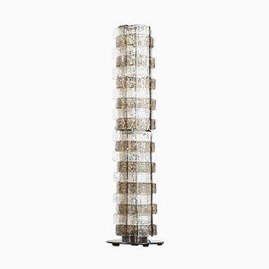 Italienische Vintage Murano Rauchglas Stehlampe von Carlo Nason für Mazzega