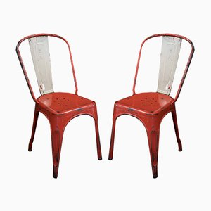 Model A Chairs by Xavier Pauchard for Tolix, 1930s, Set of 2
