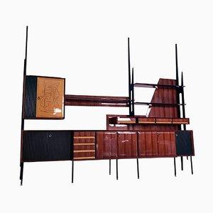 Italienisches Mid-Century Palisander Bücherregal und Sideboard von Vittorio Dassi, 1950er
