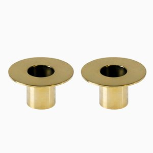 Tête-à-Tête Candleholders in Brass by Aldo Cibic for Paola C., Set of 2