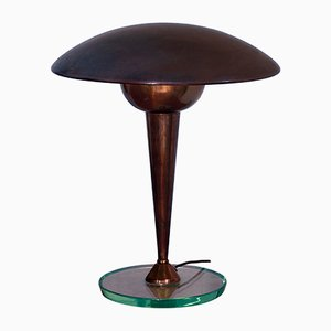 Lampada da scrivania o da tavolo in ottone, Italia, anni '50