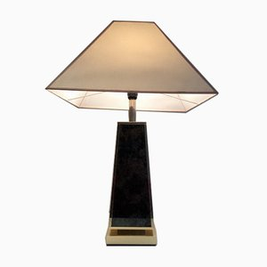 Golden Pyramid Table Lamp, 1970s