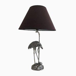 Lampe Héron Argentée de Maison Bagues, 1960s