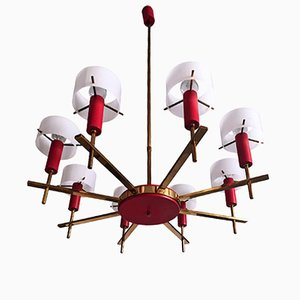 Mid-Century Italian 8-Light Chandelier by Angelo Brotto for Esperia, 1950s