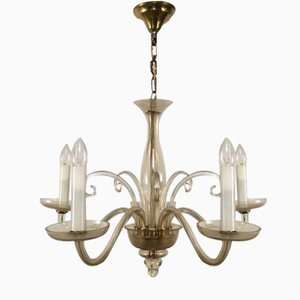 Lámpara de araña Murano de 5 brazos, años 70