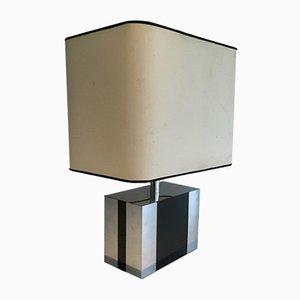 Ebonisierte Vintage Holz & Chrom Lamp, 1970er